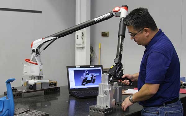 ROMER (7 Axis) Absolute Arm Portable CMM with Integrated Laser Scanner
